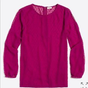 Cold shoulder dot blouse